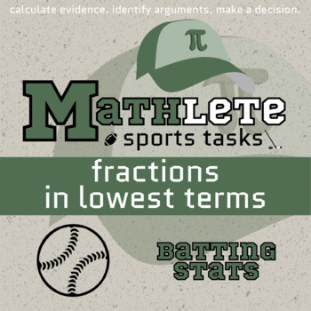 Mathlete - Fractions in Lowest Terms - Softball - Batting Stats