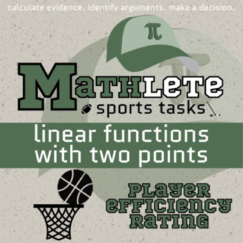 Mathlete - Linear Functions w/ Two Points - Basketball - Player Efficiency