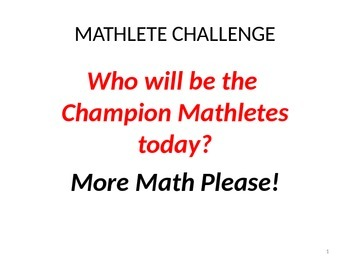 Mathlete Mania - PreAlgebra Review of Basic Concepts