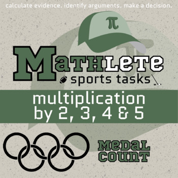 Mathlete - Multiplication by 2, 3, 4, 5 - Olympics - Medal Count
