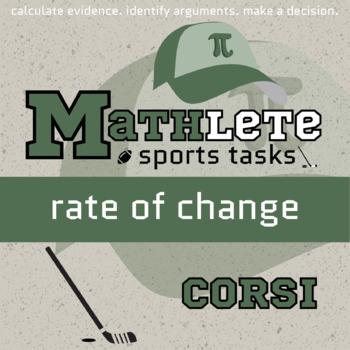 Mathlete - Rate of Change - Hockey - Corsi
