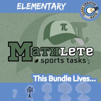 Mathlete Sports Tasks -- ELEMENTARY CURRICULUM BUNDLE -- 12 Activities!