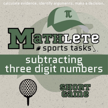 Mathlete - Subtracting 3 Digit Numbers - Golf - Short Game