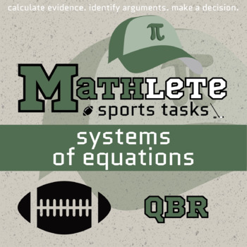 Mathlete - Systems of Equations - Football - QBR