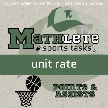 Mathlete - Unit Rate - Basketball - Points & Assists