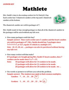 Mathletes:  Common Multiples and Real World Multiplication