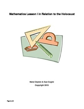 Mathematics Lesson Plan relating to the Holocaust
