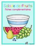 Mathématique et français sur le thème des fruits fiches complémentaires