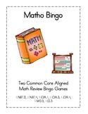 Matho Bingo Review Game Common Core