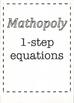 Mathopoly - 1-step equations