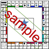 Monopoly for math - ANY 36 QUESTION WORKSHEET WORKS