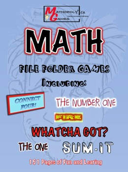 Mathopoly® Math File Folder Games - SIX Awesome Games using all basic functions