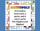 Formative Warm-Up Game for Pre-Algebra