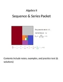 Mathplane Algebra 2 Sequences and Series packet
