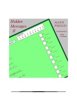 Mathplane Hidden Message Puzzles 2