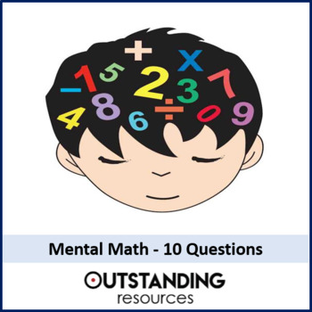 Maths: 10 Questions Mental Maths Starters ( bundle of 21 files) + answers