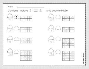 Maths 1re année Addition Soustraction (Pâques) + vocabulaire.