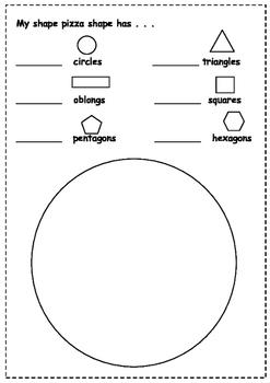 Maths - 2D Shape Pizza
