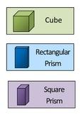 Maths - 3D shape cards