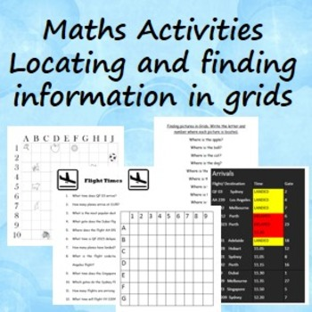 Maths Activities- Finding information in grids