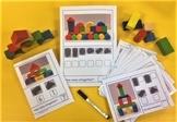 3D Shape Math Center for Kindergarten - Construct with blocks & count 3D shapes