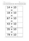 Maths Adding 10 more