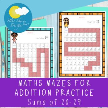 Maths Addition Mazes