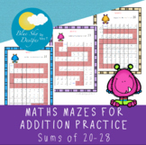 Maths Addition Mazes - Sums of 20-26