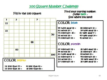 Maths Addition and Subtraction Within 100