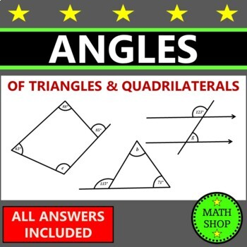 Math - Angles in triangles and quadrilaterals - Revision