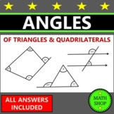 Angles of Triangles and Quadrilaterals Finding Missing Ang