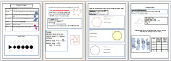 Maths Angles lesson with 32 page work pack and PPT with answers