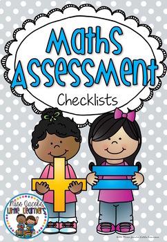 Maths Assessment Folder Cover FREE