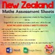 Maths Assessment Sheets - New Zealand