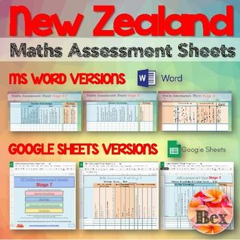 Maths Assessment Sheets New Zealand By Bex Teachers Pay Teachers