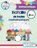 Maths-Bataille de boules mathématiques (+ et -)