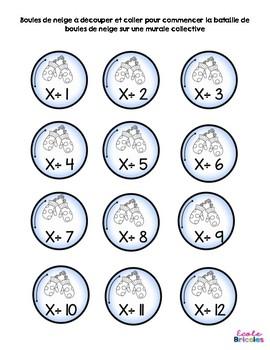 Maths-Bataille de boules mathématiques (x et ÷)