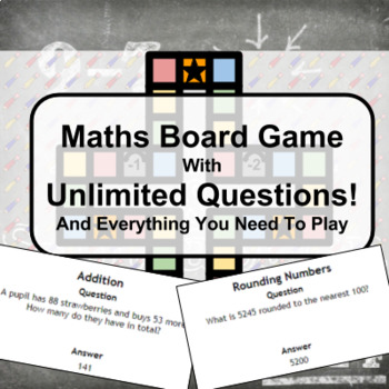 Maths Board Game with Unlimited Questions!
