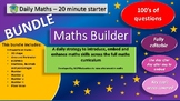 Maths Builder Bundle: number, shape, area, perimeter, BODMAS, Place Value -all 9