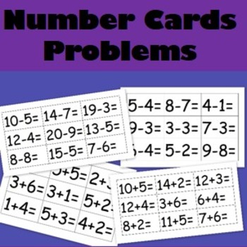 Maths Cards- 36 addition and subtraction cards