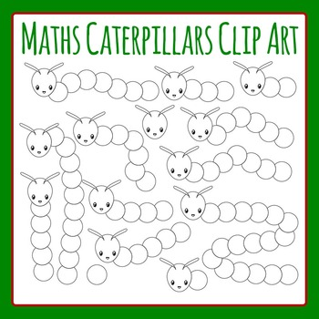 Maths Caterpillars - Blank Circles Caterpillars Clip Art Pack for Commercial Use
