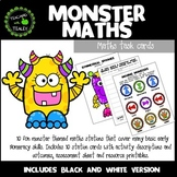 Halloween Math Center Task Cards for Pre-K -  Monster Math