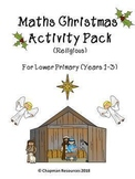 Maths Christmas Activity Pack (Religious) for Lower Primar