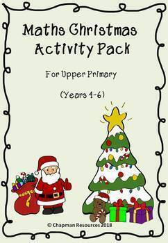 Maths Christmas Pack for Upper Primary (secular) (Years 4-6)