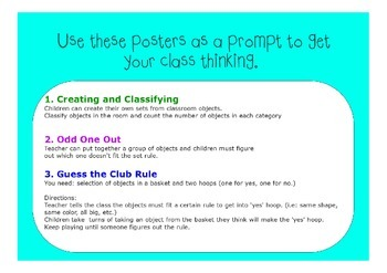 Maths Classifying Objects Posters - Early Mathematical Skill
