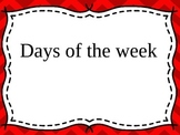 Maths Days of the Week, Months & Language of Time - K, Prep - Aust Curriculum