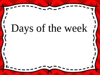 Maths Days of the Week, Months & Language of Time - K, Pre