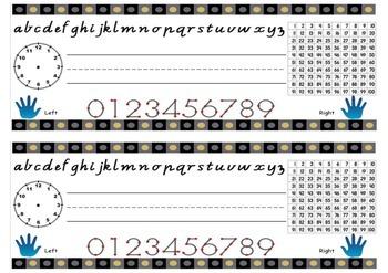 Math Desk Label with Cursive