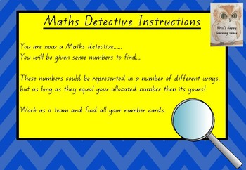 Maths Detective - adding and subtracting game