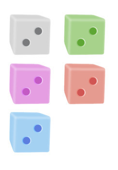 Math Dice Clip Art - Colorful Numbers 1-6 with Full Commercial Licence